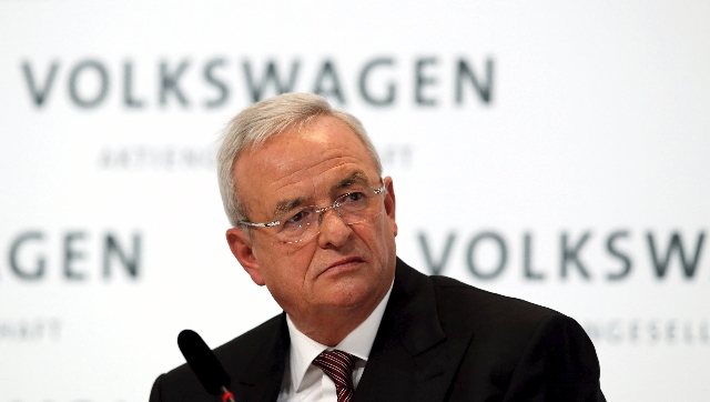 Volkswagen Chief Executive Martin Winterkorn speaks at the annual news conference of Volkswagen in Berlin, in this file picture taken March 12, 2015.   REUTERS/Fabrizio Bensch/Files