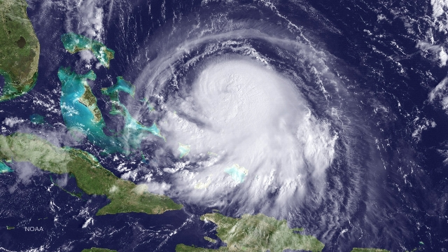 Hurricane Joaquin is seen approaching the Bahamas in this NOAA GOES East satellite image taken at 09:15 ET, Sept. 30, 2015.  Joaquin, now a Category 1 hurricane, is located about 245 miles east-no ...