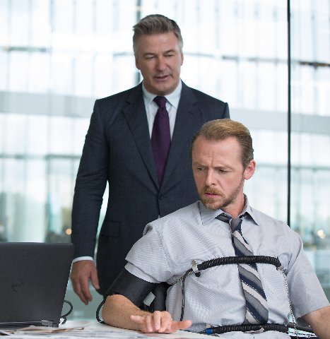 Alec Baldwin plays Hunley and Simon Pegg plays Benji in Mission: Impossible - Rogue Nation. (Paramount Pictures)