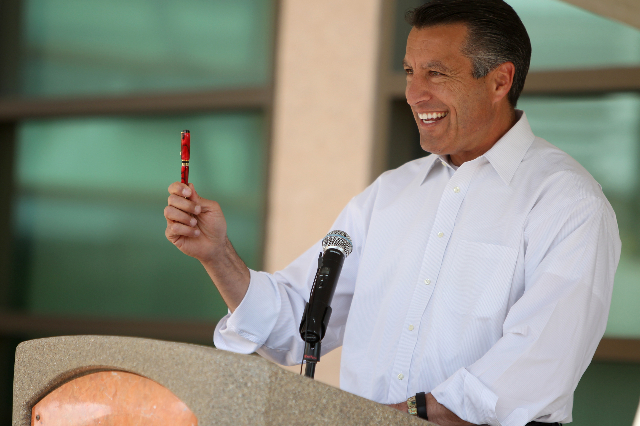 Gov. Brian Sandoval on May 1, 2015. (Erik Verduzco/Las Vegas Review-Journal) Follow Erik Verduzco on Twitter @Erik_Verduzco