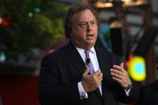 Caesars CEO Gary Loveman speaks during an event marking the one-year anniversary of the High Roller at The Linq Tuesday, March 31, 2015. (Sam Morris/Las Vegas Review-Journal file)