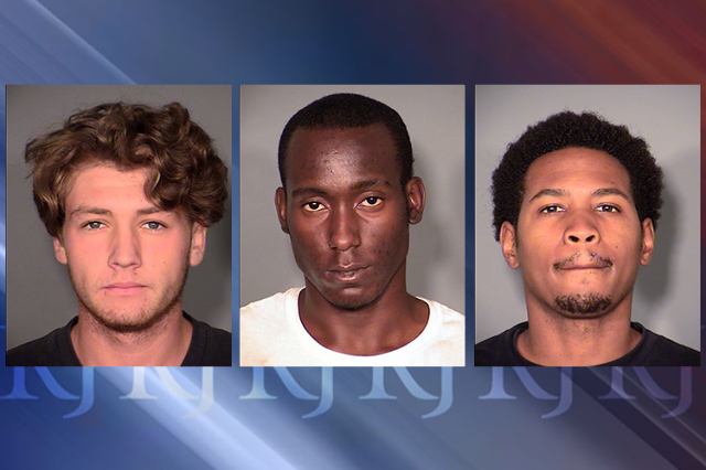 Derek Balint, 18 (left), Andrew Hall, 18 (center) and Stephen Jordan, 18 (right). (Courtesy Las Vegas Metropolitan Police Department)