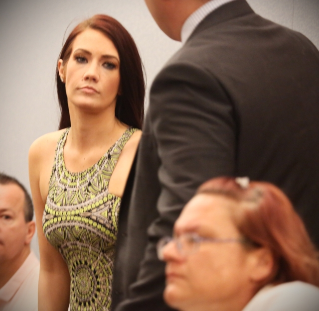 Former Miss Nevada USA Katherine Rees appears in Las Vegas Justice Court.