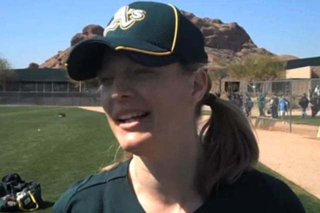 Justine Siegal. (Screengrab/MLB video)
