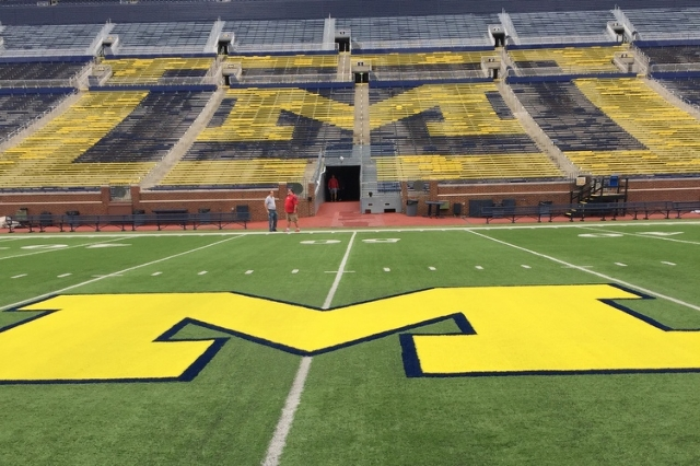 "Michigan Stadium, nicknamed ""The Big House"", in Ann Arbor, Michigan. (Ed Graney, Las Vegas Review-Journal)"