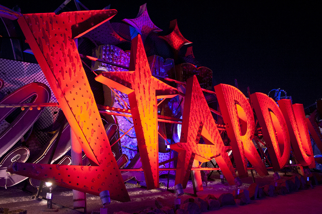 The Neon Museum has the largest collection of vintage neon signage in the world and is a unique record of Las Vegas' colorful history. Featuring more than 150 unrestored signs within a two a ...