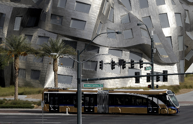 Exterior of the Cleveland Clinic Lou Ruvo Center for Brain Health at the intersection of Grand Central Parkway and Bonneville on Tuesday, Nov. 19, 2013. (Mark Damon/Las Vegas Review-Journal)