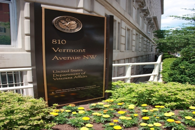 Entrance to the US Department of Veterans Affairs (CNN/Burke Buckhorn)