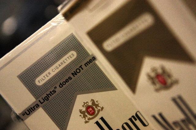 Various marlboro products, cigarettes, cancer, tobacco, nicotine. (Sarmad Qaseera/CNN)