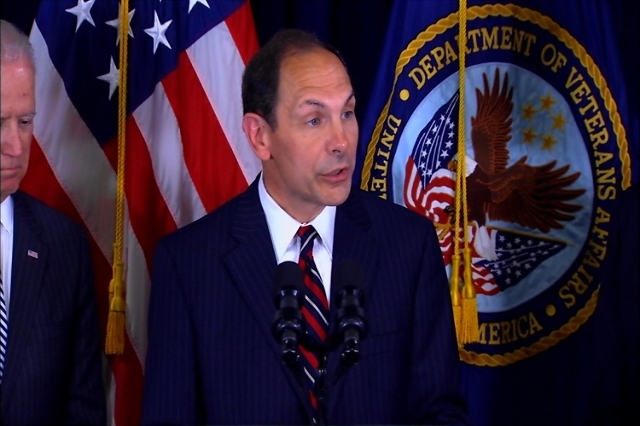 President Barack Obama Monday, June 30, 2014 announced Bob McDonald as his choice to head the troubled Department of Veterans Affairs. (Pool/CNN)