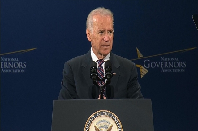 Vice President Joe Biden spoke at the National Governors Association meeting in Nashville, Tennessee Friday, July 11, 2014. (Pool/CNN)