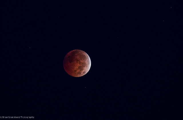 """Brian Greenberg, a CNN iReporter, took this photograph of the """"Blood Moon"""" around 6:25 AM EST on October 8, 2014, in Victor, New York. A """"Blood Moon"""" is a dramatic lunar eclips ..."""
