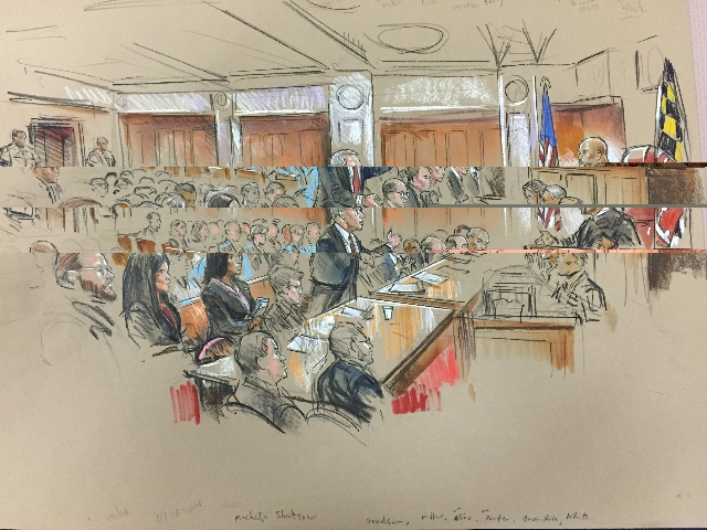 A Baltimore state court judge Wednesday, Sept. 2, 2015, denied two key defense motions in the Freddie Gray case -- one seeking its dismissal for alleged prosecutorial misconduct and another callin ...