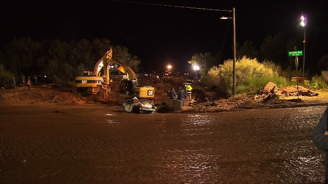 Eight people died and five others are missing after a flash flood washed away vehicles at the Utah/Arizona border, the Hildale, Utah, fire department said. All the victims are mothers and small ch ...