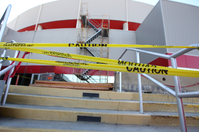A construction site adjacent to the Thomas and Mack Center in Las Vegas is seen on Wednesday,  Sept. 23, 2015. ERIK VERDUZCO/LAS VEGAS REVIEW-JOURNAL