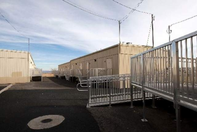 Portable classrooms at Forbuss Elementary School (Las Vegas Review-Journal, File)