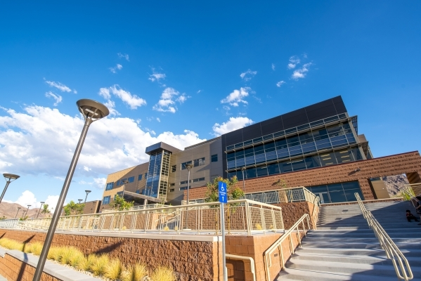 The exterior of the James E. and Beverly Rogers Student Center at Nevada State College in Henderson is shown on Friday, Aug. 7, 2015. (Joshua Dahl/Las Vegas Review-Journal)