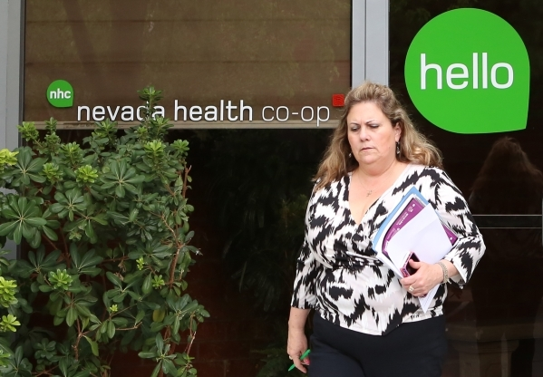 A woman leaves the Nevada Health CO-OP walk-in center on 3900 Meadows Ln. Wednesday, Aug. 26, 2015. A nonprofit insurer created by the Affordable Care Act to offer health coverage in Nevada said W ...