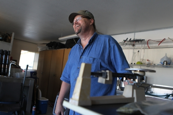Local home beer brewer Jimmy Doyle takes a break while brewing a red India pale ale beer at his home in Las Vegas Sunday, Sept. 5, 2015. ERIK VERDUZCO/LAS VEGAS REVIEW-JOURNAL Follow him @Erik_Ver ...