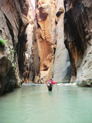 The North Fork of the Virgin River serves as your trail in the world-famous Zion Narrows hike in Zion National Park, Utah. (Deborah Wall/Special to View)