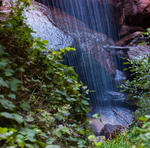 A waterfall at the Lower Emerald Pool is shown at Zion National Park in Utah on Sunday, Sept. 6, 2015. Chase Stevens/Las Vegas Review-Journal Follow @csstevensphoto
