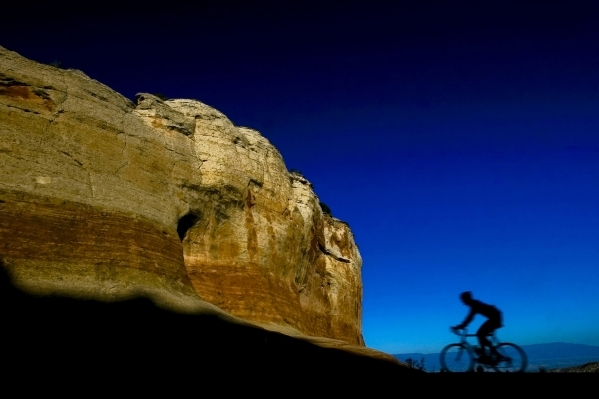 A mountain biker rides near Grand Junction, Colo., which is popular for a variety of recreational pursuits. COURTESY COLORADO TOURISM OFFICE
