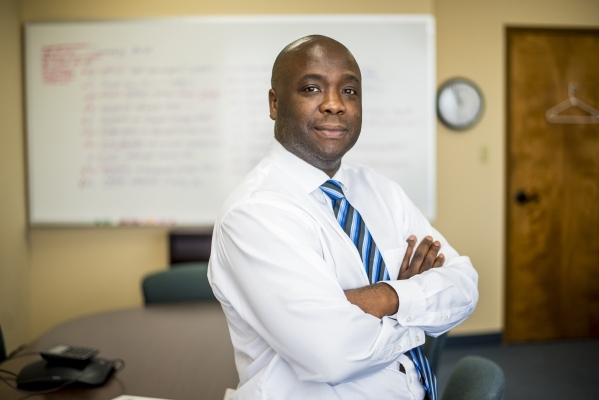 Dr. Cassius Lockett, director of community health, poses for a photo at the Southern Nevada Health District headquarters in Las Vegas on Friday, Sept. 11, 2015. (Joshua Dahl/Las Vegas Review-Journal)