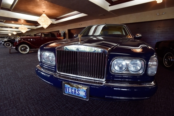 Classic automobiles including Rolls Royces and Bentleys are displayed at Casa de Shenandoah on Monday, Sept. 14, 2015, in Las Vegas. The ranch at Sunset and Pecos roads in Las Vegas is scheduled t ...