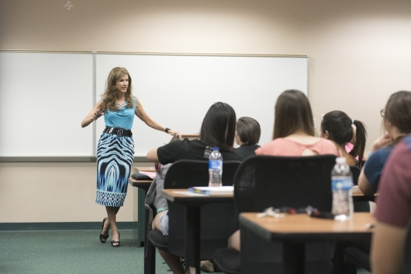 Professor Ann B. Bullis teaches during her psychology of happiness class at College of Southern Nevada's Henderson Campus Monday, Sept. 21, 2015. Jason Ogulnik/Las Vegas Review-Journal