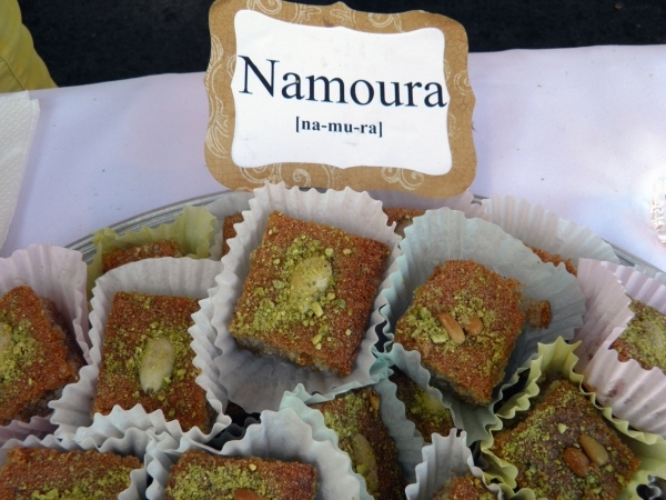 Namoura is set to be among pastries available during St. Sharbel Maronite Catholic Church's Lebanese American Festival, planned Oct. 9-11 at the church, 10325 Rancho Destino Road. Namoura is ...
