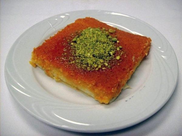 Knafeh is set to be among pastries available during St. Sharbel Maronite Catholic Church's Lebanese American Festival, planned Oct. 9-11 at the church, 10325 Rancho Destino Road. Knafeh is a ...