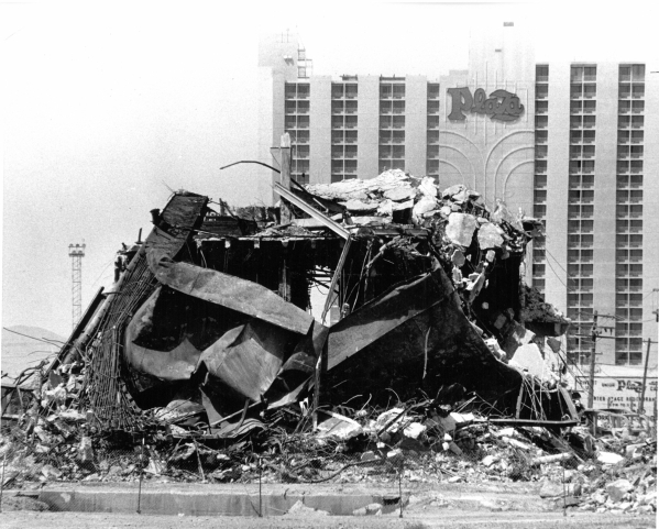 The Icehose, 600 S. Maion St.,  shown after the fire that led to it's demolition in 1988. (Review-Journal Staff)