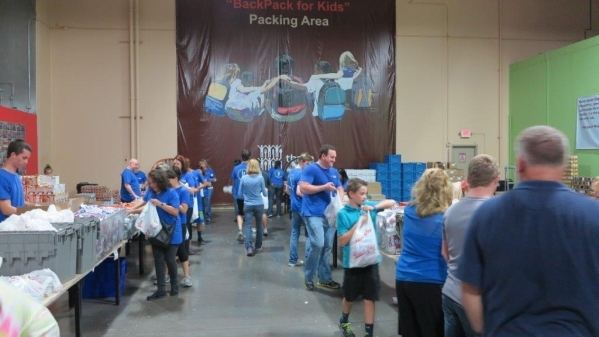City National Bank colleagues volunteer several times a year at Three Square food bank to help fight hunger throughout Southern Nevada. More than 30 City National Bank volunteers and their family  ...