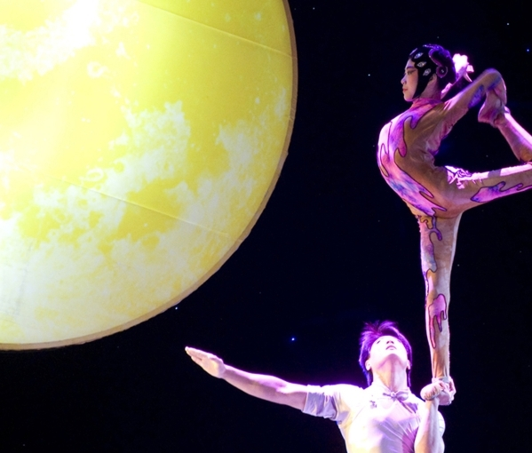 "Acrobats from China's National Circus demonstrate their artistry in ""Peking Dreams,"" which visits UNLV's Artemus Ham Hall Friday -- and marks the troupe's Las Vegas deb ..."