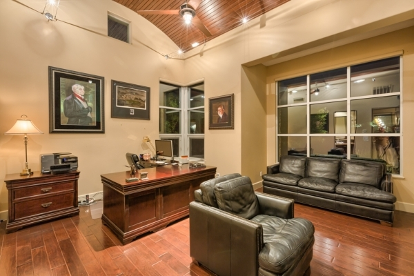 A traditional office is on the first floor of the home. COURTESY PHOTO