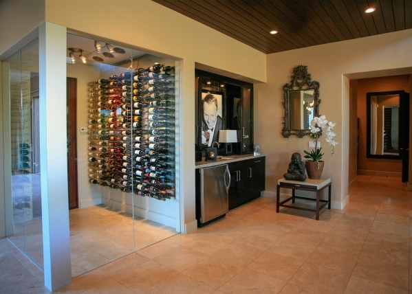 The home features a wine wall. ELKE COTE/REAL ESTATE MILLIONS