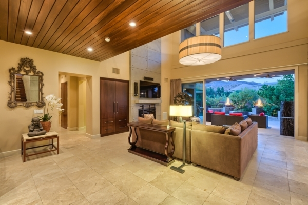 Glass walls create indoor and outdoor living spaces. COURTESY PHOTO