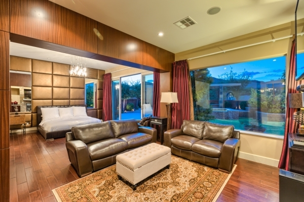 The home's master bedrom has a sitting area. COURTESY PHOTO