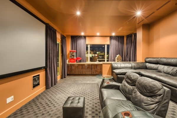 "Probably a lot of screenings of  ""Ghost Adventures"" are played in the home theater. COURTESY PHOTO"