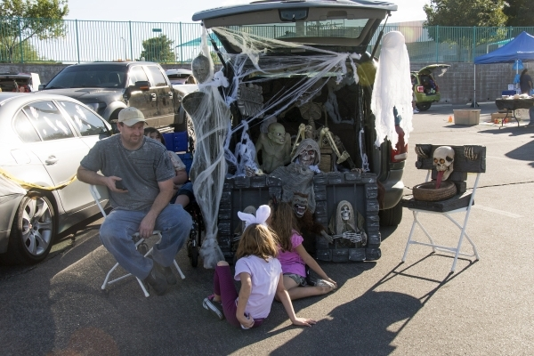 People take part in last year's city of Henderson trunk-or-treat at the Black Mountain Recreation Center, 599 Greenway Road. The event is planned at the site again this year from 6 to 8:30 p ...
