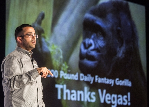 Rahul Sood,Co-Founder and CEO of Unikrn,  speaks about the future of eSports during his keynote speech at  Global Gaming Expo in the Sands Expo and Convention Center on Thursday, Oct. 1,2015. Jeff ...