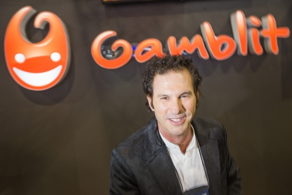 Eric Meyerhofer, CEO of Gamblit Gaming, discusses skill-based gaming at the Global Gaming Expo in the Sands Expo and Convention Center on Wednesday, Sept. 30, 2015. (Jeff Scheid/ Las Vegas Review- ...