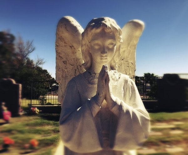 A statue is seen at Palm Downtown Mortuary and Cemetery, 1325 N. Main Street on Friday, Oct. 2, 2015. Jeff Scheid/ Las Vegas Review-Journal Follow @jlscheid