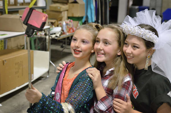 Brinkley Woodrow, left, Madison Speidel, center, and Devin Woodrow take a selfie at the Opportunity Village Thrift Store at 390 S. Decatur Blvd. in Las Vegas on Sunday, Oct. 4, 2015. Bill Hughes/L ...