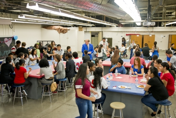 Students talk and eat during a Week of Respect event at Valley High School on Thursday, Oct. 1, 2015. Daniel Clark/Las Vegas Review-Journal