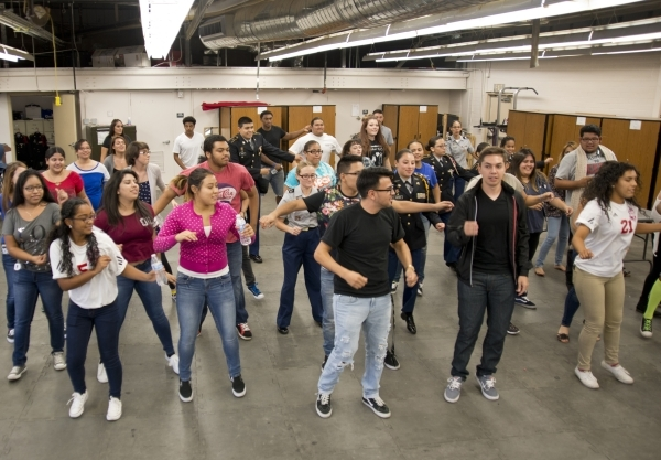 Students dance during a Week of Respect event at Valley High School on Thursday, Oct. 1, 2015. Daniel Clark/Las Vegas Review-Journal