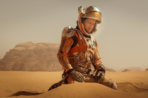 "In ""The Martian,"" Matt Damon portrays an astronaut who faces seemingly insurmountable odds as he tries to find a way to subsist on a hostile planet. Twentieth Century Fox"