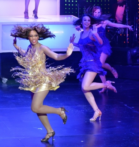Elyse Branch, left, performs in ìVegas! the Showî at the Saxe Theater in the Miracle Mile Shops at the Planet Hollywood hotel-casino at 3667 Las Vegas Blvd. South in Las Vegas on Thursday, O ...