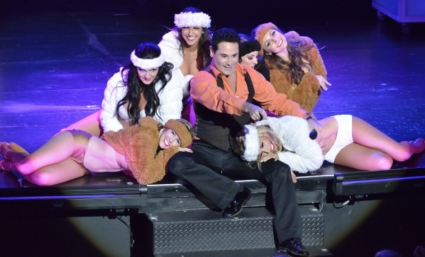 David Villella performs with dancers from ìVegas! the Showî at the Saxe Theater in the Miracle Mile Shops at the Planet Hollywood hotel-casino at 3667 Las Vegas Blvd. South in Las Vegas on T ...