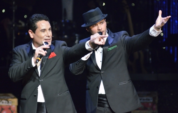 David Villella, left, and Josh Strickland perform in ìVegas! the Showî at the Saxe Theater in the Miracle Mile Shops at the Planet Hollywood hotel-casino at 3667 Las Vegas Blvd. South in Las ...